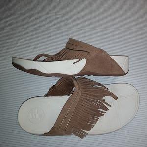 Fitflop Fringe Sandals Tan Size 8